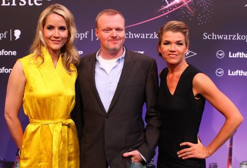 Eurovision Song Contest - Die Moderatoren Judith Rakers, Stefan Raab und Anke Engelke gaben gestern eine Pressekonferenz