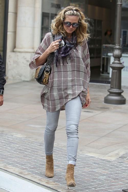 """Trendy in LA: Heidi Klum geht auf """"Tuch""""fühlung"""