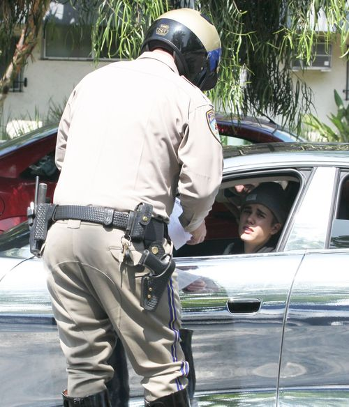 Justin entpuppte sich am Freitag als Verkehrs-Rowdy