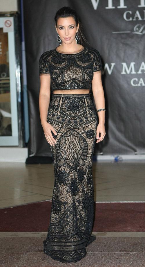 Kim Kardashian im Bauchfrei-Abendkleid in Cannes  Bufly Buflys Blog
