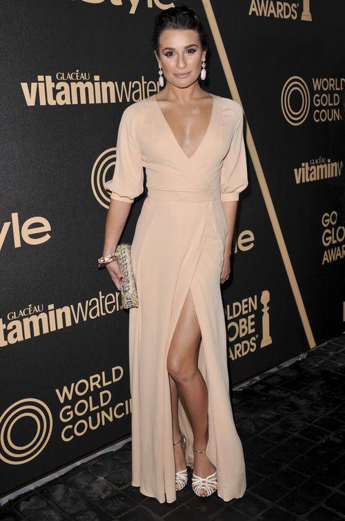 Lea Michele erschien in einem Look aus Nudetönen