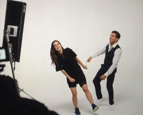 Lena und Elyas M'Barek drehen gemeinsam einen Musik-Clip