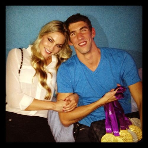 Michael Phelps und Megan Rossee turtelte