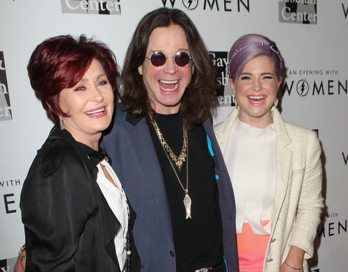 Ozzy, Sharon und Kelly Osbourne kommen gemeinsam zu einer Veranstalung...