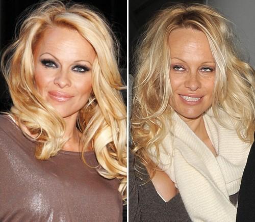 Jessica Simpson, Beth Ditto, Jennifer Lopez - Pamela Anderson sieht ungeschminkt gar nicht mehr so sehr nach Sexbombe aus