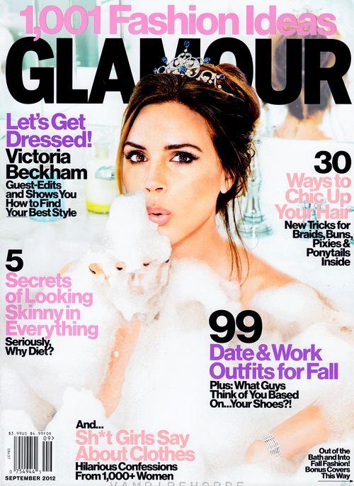 Victoria Beckham zeigt sich auf dem Cover der US-Glamour in der Badewanne