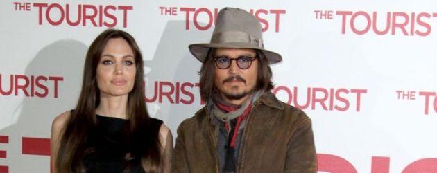 Angelina Jolie und Johnny Depp im Hotel Adlon
