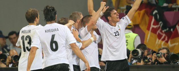 Die Deutschen freuen sich
