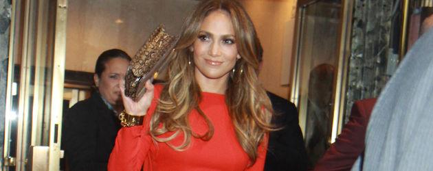 Jennifer Lopez rotes Kleid