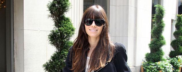 Jessica Biel mit Pony und Sonnenbrille