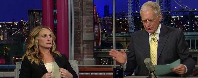 Julia Roberts bei Letterman