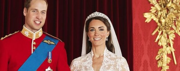 Kate & William in Hochzeitsrobe