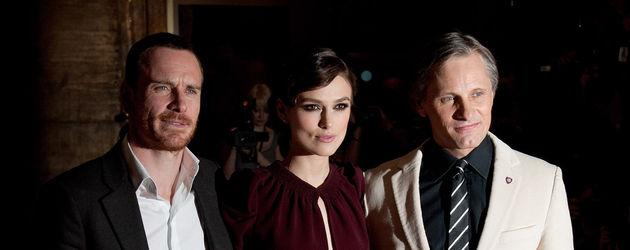 Keira Knightley mit Viggo Mortensen und Michael Fassbender