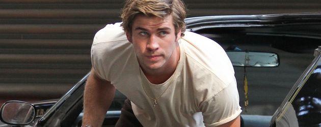 Liam Hemsworth bei Dreharbeiten