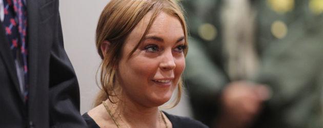 Lindsay Lohan guckt ganz komisch