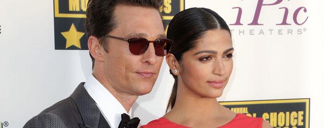Matthew McConaughey und Camila Alves bei den Critics' Choice Movie Awards 2014