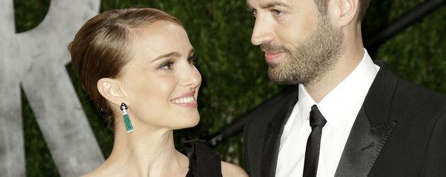 Natalie Portman und Benjamin Millipied bei den Oscars 2013