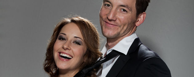 Renée Weibel und Dirk Moritz posieren zusammen