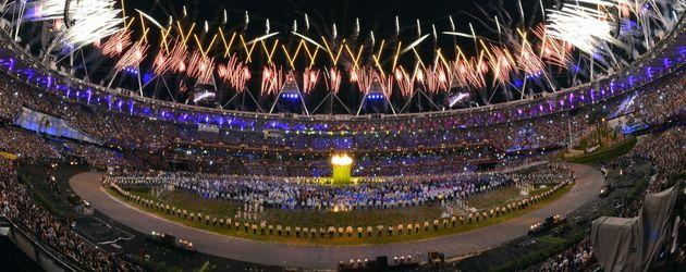 Stadion bei der Eröffnungsfeier der Olympischen Spiele