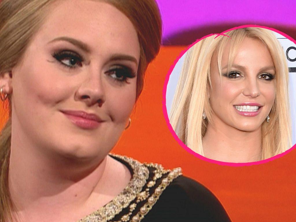 Britney Spears und Adele Adkins