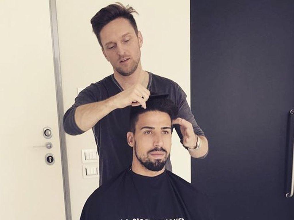 Sami Khedira bei Friseur Alexander von Trentini