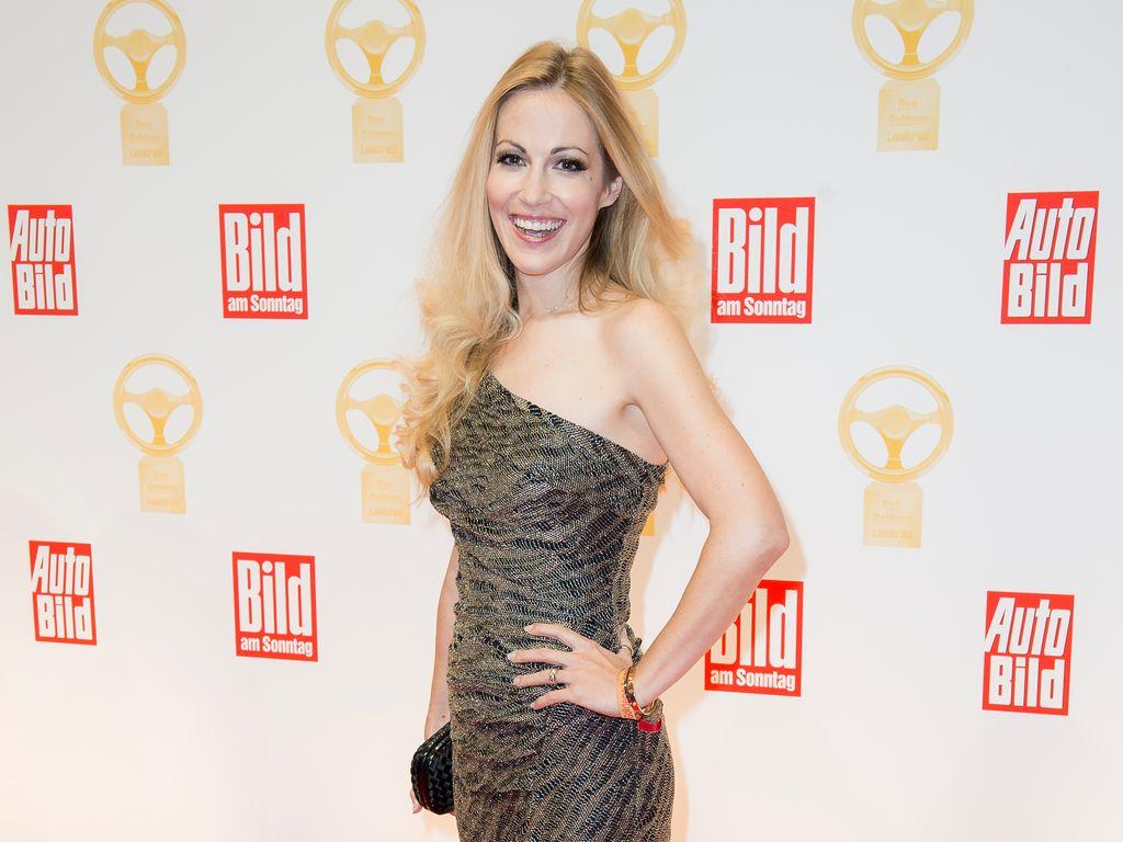 """Andrea Kaiser bei der Verleihung """"Das Goldene Lenkrad"""" 2016"""