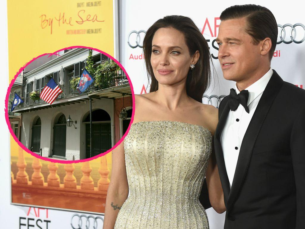 Angelina Jolie und Brad Pitt mit ihrem gemeinsamen Haus in New Orleans