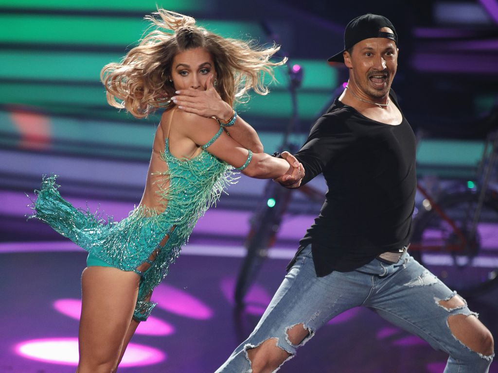 "Ann-Kathrin Brömmel und Sergiu Luca bei ""Let's Dance"" 2017"