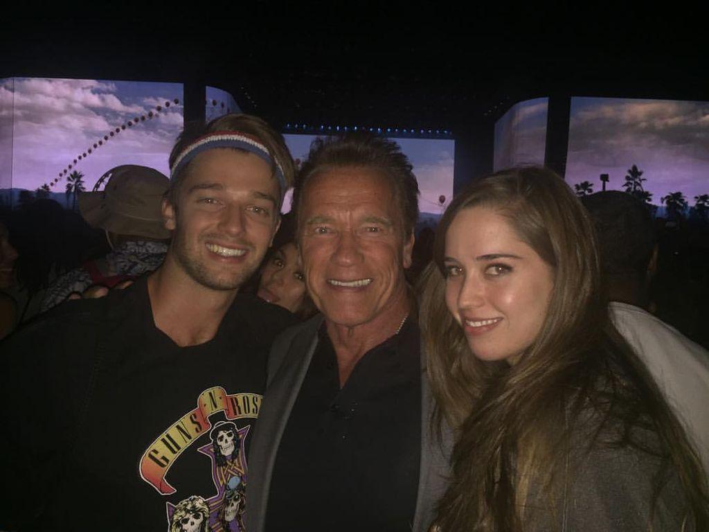 Arnold Schwarzenegger, Patrick Schwarzenegger und Christina Schwarzenegger