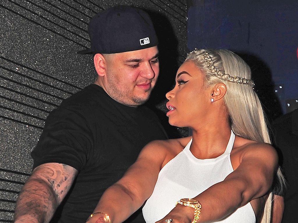 Robert Kardashian und Blac Chyna auf einer Party