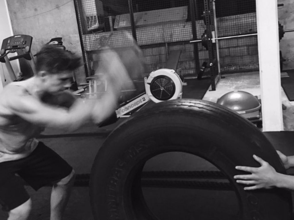 Brooklyn Beckham im Fitnesstudio