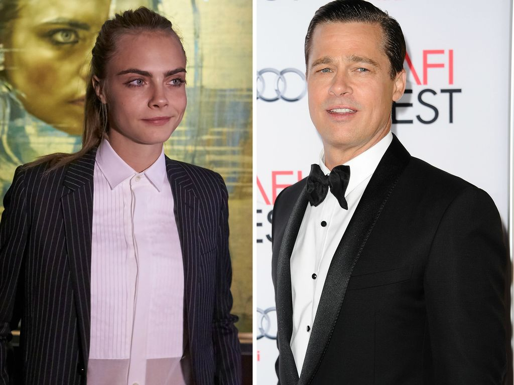 Cara Delevingne und Brad Pitt
