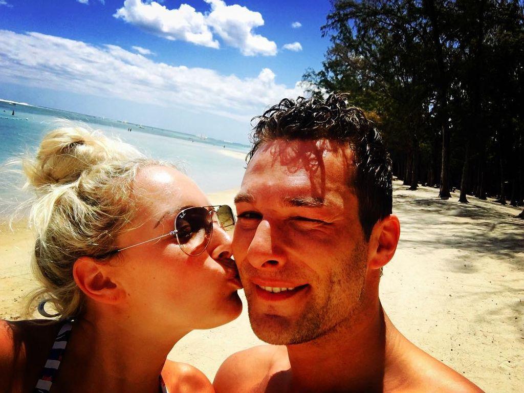 Carolin Ehrensberger im Liebesurlaub auf Mauritius
