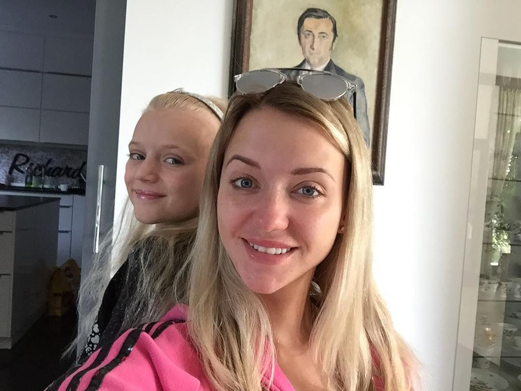 Cathy Lugner mit ihrer Tochter Léonie