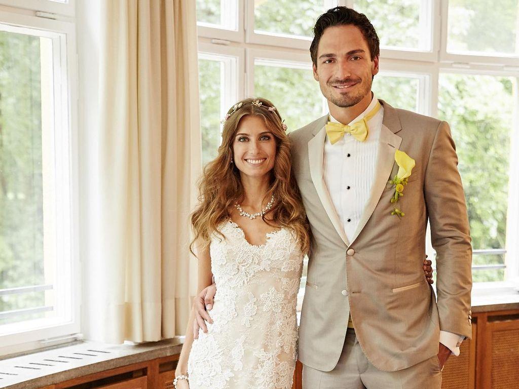 Cathy und Mats Hummels auf ihrer Hochzeit