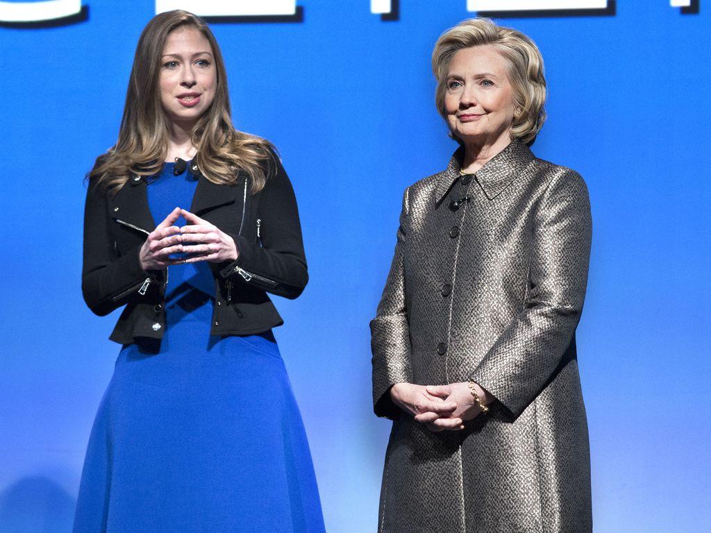 Hillary Clinton und Chelsea Clinton