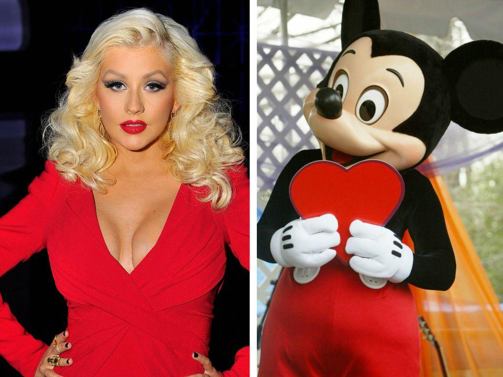 Christina Aguilera und Micky Maus