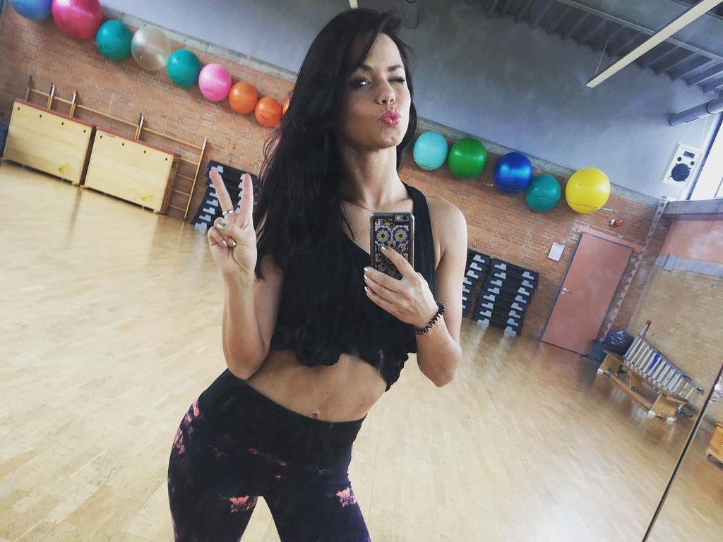 Christina Luft beim Training
