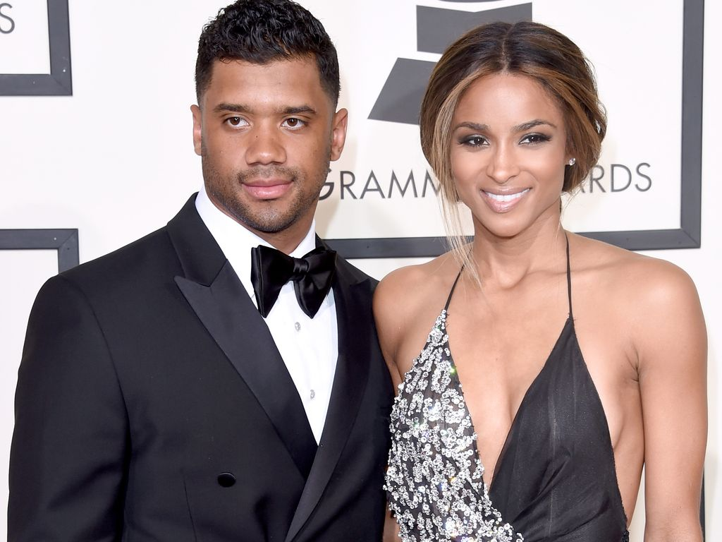 Russell Wilson und Ciara bei der Grammy-Verleihung 2016