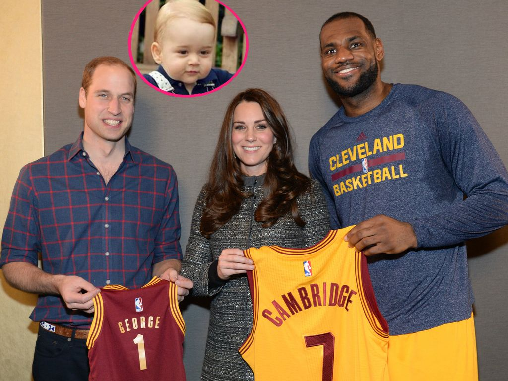 Herzogin Kate, Prinz William, Prinz George und LeBron James