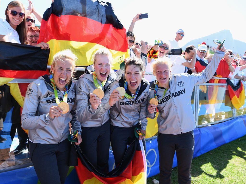 Die deutschen Ruderfrauen bei Olympia
