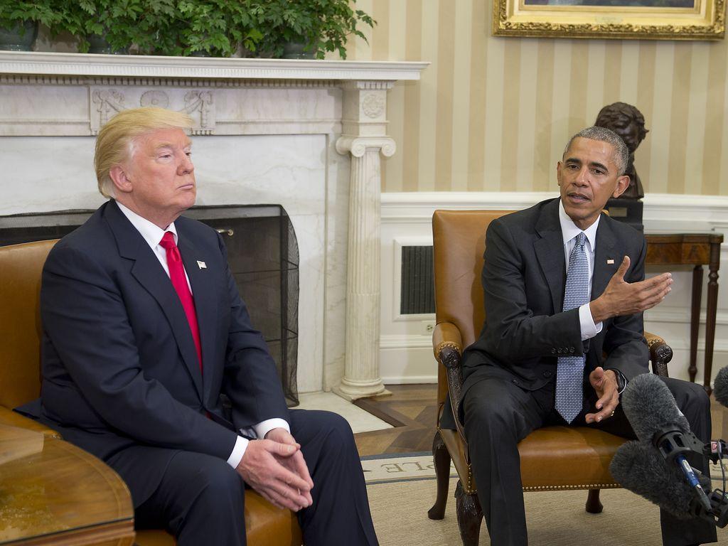 Donald Trump und Barack Obama im Weißen Haus