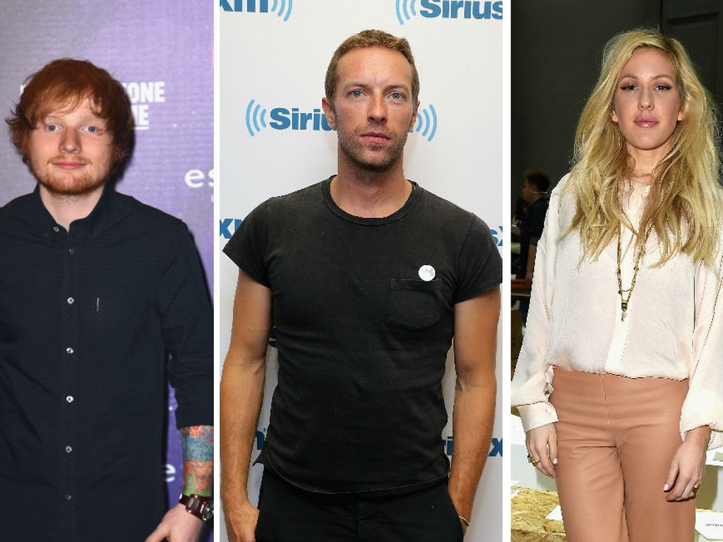Ellie Goulding, Ed Sheeran und Chris Martin