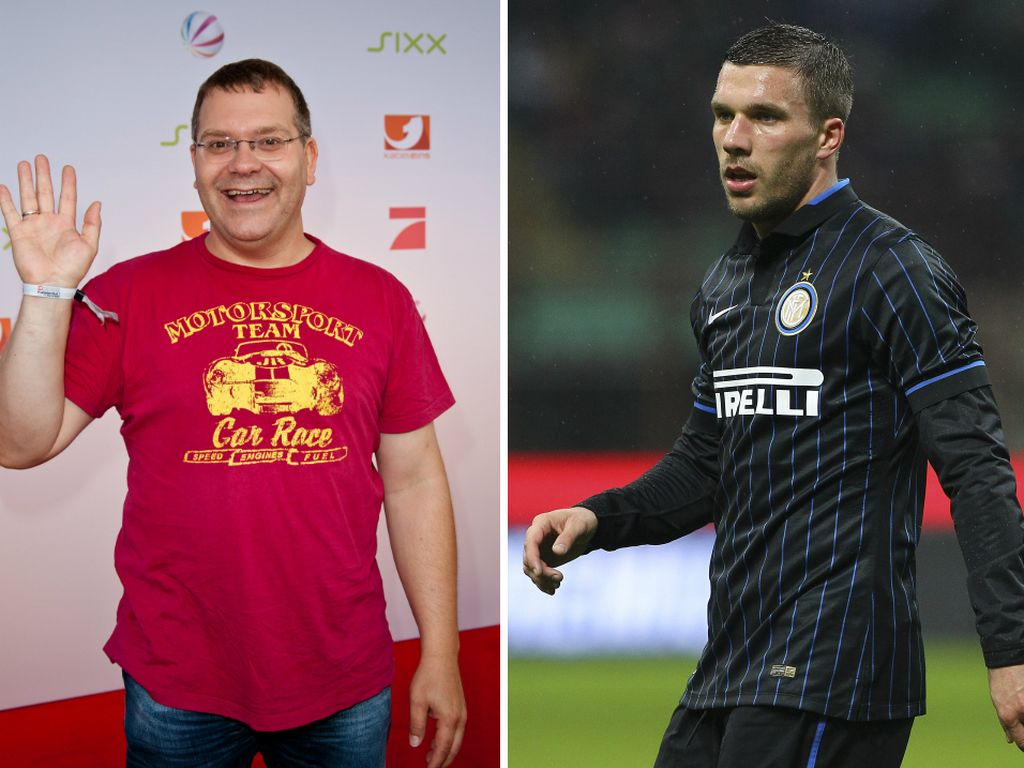 Lukas Podolski und Elton