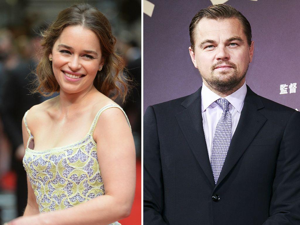 Leonardo DiCaprio und Emilia Clarke