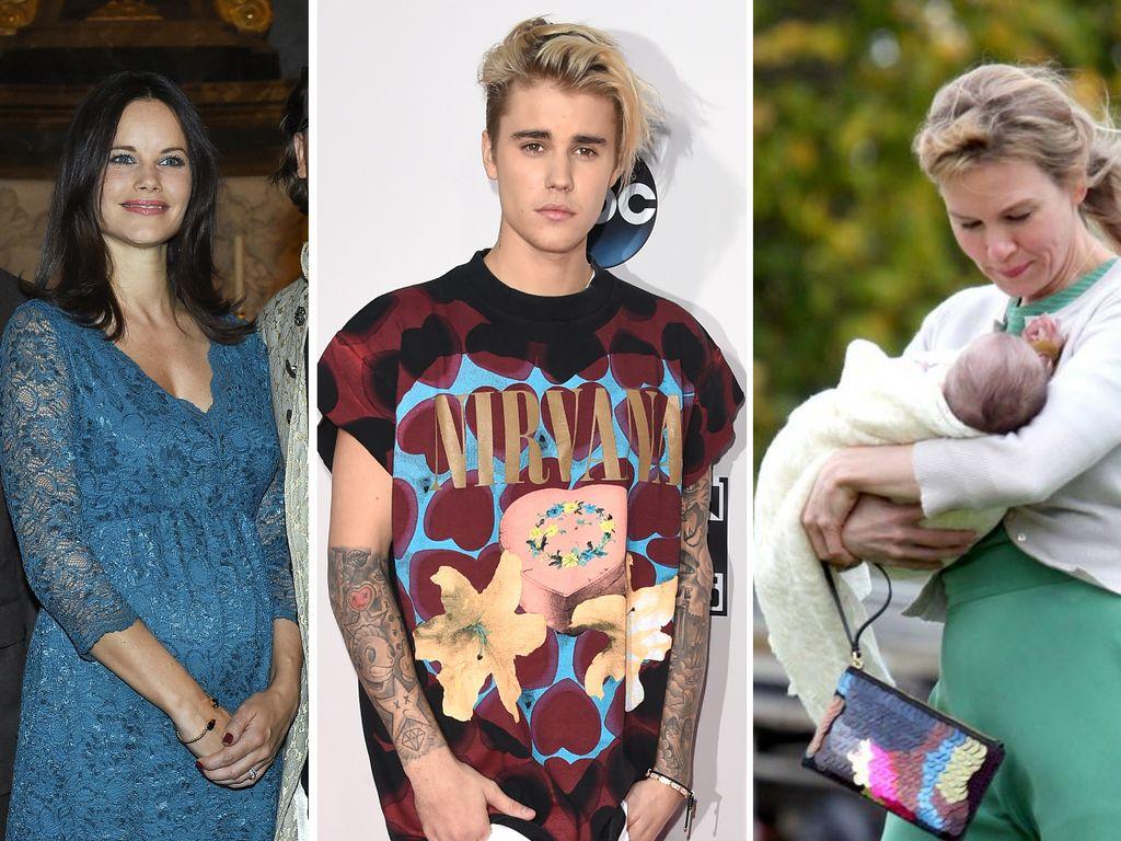 Prinz Carl Philip von Schweden, Justin Bieber, Sofia Hellqvist und Renee Zellweger