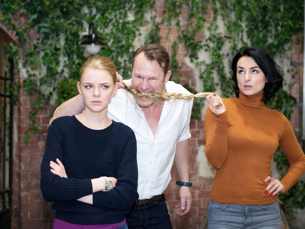Mimi Fiedler, Olivia Burkhart und Hanno Friedrich