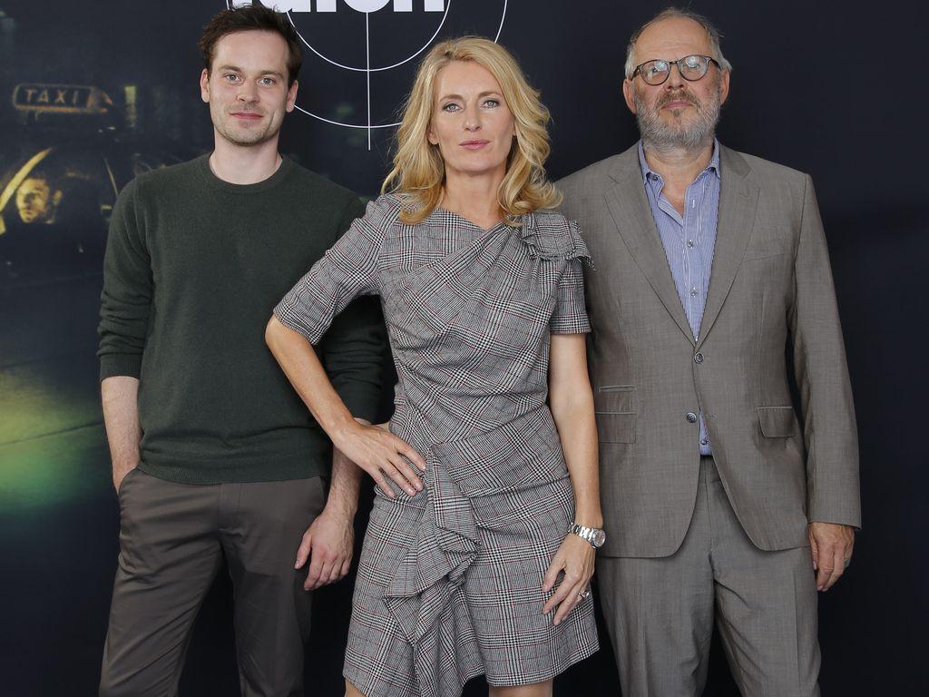 """Florian Bartholomäi, Maria Furtwängler und Axel Milberg beim """"Tatort""""-Jubiläum der 1000. Folge"""