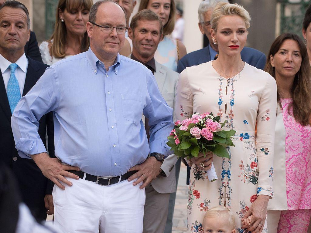 Fürst Albert II., Charlène und Sohn Jacques in Monaco