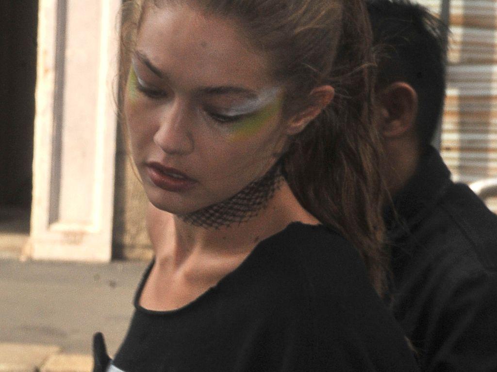 Gigi Hadid nach der Max Mara Fashion Show in Mailand